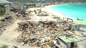 Philipsburg, saint Martin 13 avril/2018 Dommages d'ouragan à St Martin Ouragan Maria banque de vidéos