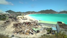 Philipsburg, saint Martin-avril 13,2018 : Dommages d'ouragan à St Martin Ouragan Maria et Irma clips vidéos