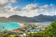 Philipsburg Sint Maarten image stock