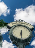 Philipsburg St. Maarten clock Royalty Free Stock Photo