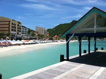 Philipsburg, St. Maarten Dock and Beach Royalty Free Stock Photos