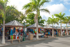 Philipsburg Tourist Market Place on Sint Maarten II. Stock Image