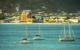 Philipsburg's downtown, St. Martin, Caribbean Royalty Free Stock Images