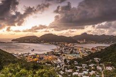 Philispburg, Sint Maarten, Dutch Antilles. Philipsburg, Sint Maarten, Dutch Antilles cityscape at the Great Salt Pond stock photography