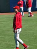 Phillies Jamie Moyer walks in the outfield Stock Images