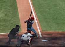 Phillies Jayson Werth stands in the batters box Stock Photos