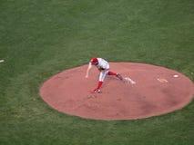 Phillies Joe Blanton throws pitch from mound Royalty Free Stock Photos