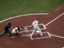 Phillies Ryan Howard slingert bij inkomende hoogte Royalty-vrije Stock Afbeeldingen