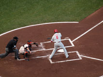 Phillies Ryan Howard swings at incoming pitch Royalty Free Stock Images