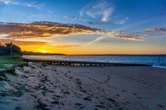 Phillip, Australia. Beach Sunset on Phillip island Stock Image