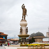 Phillip II of Macedon statue and Daut Pasha Hamam Royalty Free Stock Image