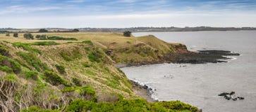 Phillip Island e la piramide oscillano la vista panoramica dell'allerta, Victoria Fotografie Stock Libere da Diritti