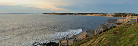 Phillip Island at sunset Royalty Free Stock Image