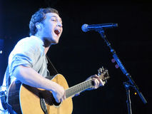 Phillip Phillips. This is an image of Phillip Phillips performing in concert. Phil Phillips is the American Idol and was on tour with the American Idol Top Ten Royalty Free Stock Images