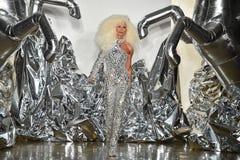 Phillipe Blond camina la pista en el desfile de moda de Blonds Fotografía de archivo libre de regalías