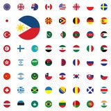 Phillipines round flag icon. Round World Flags Vector illustration Icons Set. Phillipines round flag icon. Round World Flags Vector illustration Icons Set Stock Images