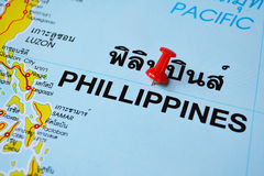Phillippines map Royalty Free Stock Photo