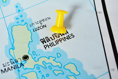 Phillippines map Royalty Free Stock Images