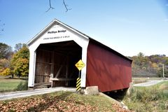 Phillips Covered Bridge Royalty Free Stock Photography