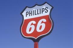 Phillips 66 sign Stock Photo