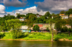 Phillipsburg, New Jersey, seen across the Delaware River from Ea Stock Photography