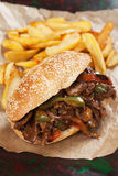 Philly beef steak sandwich Royalty Free Stock Images