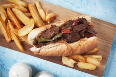 Philly beef steak sandwich Royalty Free Stock Image