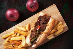 Philly beef steak sandwich Royalty Free Stock Photo