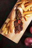 Philly beef steak sandwich Stock Photography
