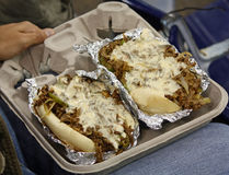 Philly Cheese Steak. Enjoying a philly cheese steak at a sporting event Stock Photo