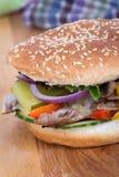 Philly cheese steak burger sandwich Stock Photos