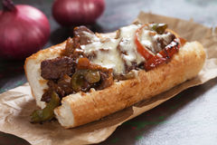 Philly cheese steak sandwich Royalty Free Stock Image