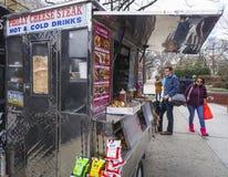 Philly Cheese Steak - street sale - PHILADELPHIA - PENNSYLVANIA - APRIL 6, 2017 Stock Photos