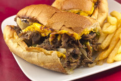 Philly Cheesesteak Stock Image