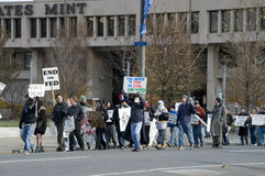 Philly Federal Reserve Protest Royalty Free Stock Photo