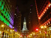 philly in Halloween-Nacht Stockfoto