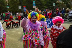 Philly Holiday Parade Clowns Stock Image