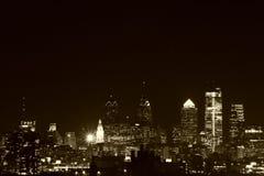 Philly la nuit Photographie stock libre de droits