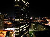 Philly Night. Philadelphia at bedtime - except for the businessmen stock photography