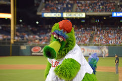 Philly Phanatic in Actie Royalty-vrije Stock Fotografie