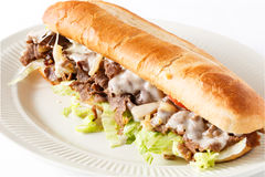 Philly Steak and Cheese Royalty Free Stock Images