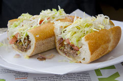 Philly Steak Hoagie Royalty Free Stock Images
