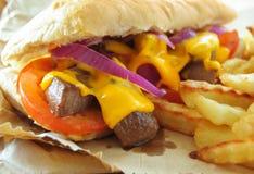 Philly steak sandwich Stock Photo