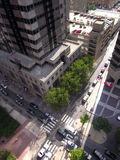 Philly Streets. City streets from above stock photos