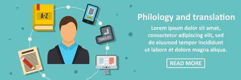 Philology and translation banner horizontal concept Royalty Free Stock Photography