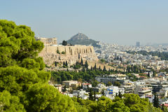 Philopapou Hill near Acropolis Athens Greece Stock Photos