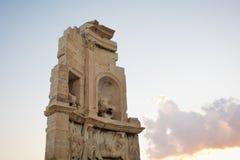 Philopappos monument Arkivbild
