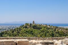 Philopappou hill. Stock Image