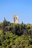 Philopappus hill and monument, Greece stock photography