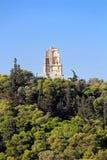 Philopappus kulle och monument, Grekland arkivbild